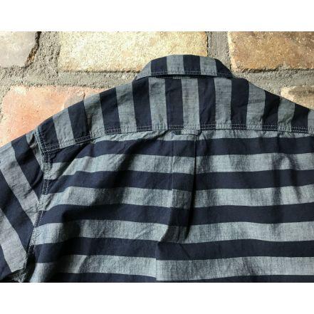 GZ-HMPKL-0111 hem pocket L / S shirt (gray border)