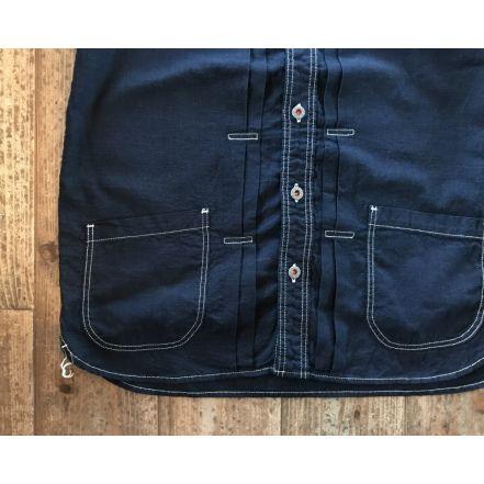 GZ-JWSS-3006 work S / S shirt(Indigo)