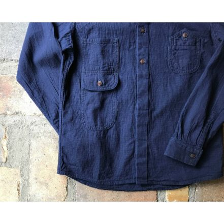 GZ-FWL-3102ID fly front work L / S shirt(刺し子)