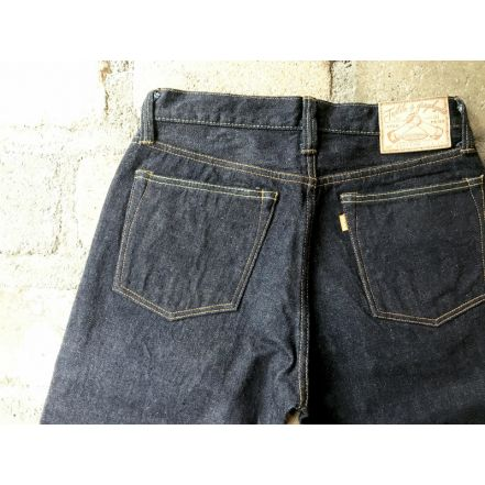 GZ-16ST-010 16oz Right-woven jeans straight (One washed) (Size 38 and 40)