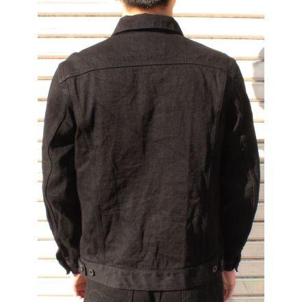 ONI02207PKIRAKUIIBK 12oz Kiraku-II Black 3rd Type Jacket with hand-warmer pockets