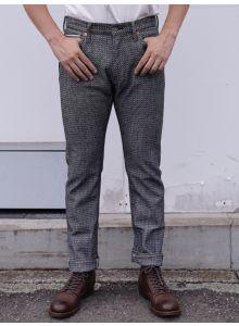 GZ-SVJPT-0204 13oz Selvedge Jacquard Slim Jeans ID×WH